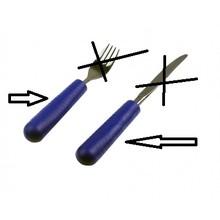 Able2 Besteckgriff - Besteckgriffe für Kinder - Blau - Tenura