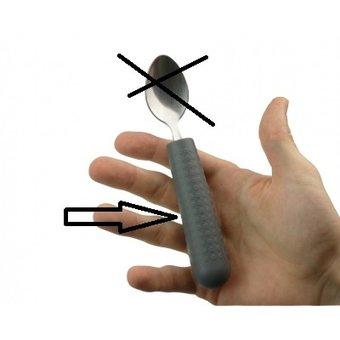Able2 Bestek grip - Bestekgrepen voor kinderen  - Grijs - Tenura