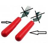 Able2 Besteckgriff - Besteckgriffe für Kinder - Rot - Tenura