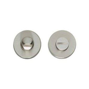 Intersteel Rozet toiletsluiting / badkamersluiting rond  - nikkel mat - Intersteel