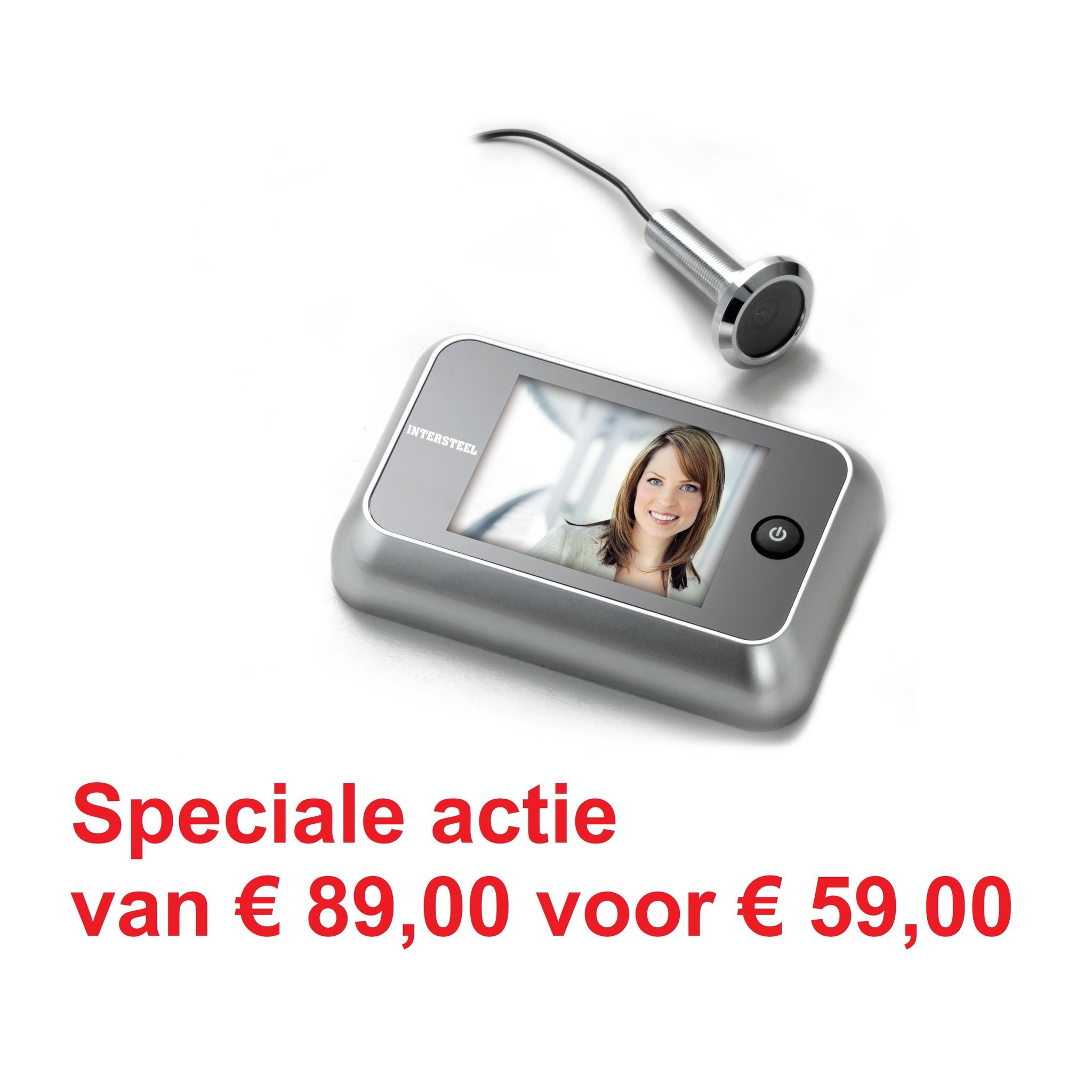 Digitale Deurspion 1.0 van Intersteel - Speciale actie van € 89,00 voor € 59,00
