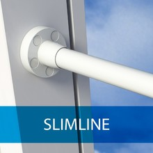 SecuGuard (SecuBar) Slimline in de dag 1300mm doorvalbeveiliging van SecuGuard