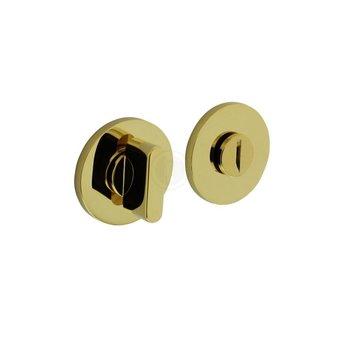 Olivari wc-sluiting / badkamersluiting rond - messing titaan PVD - by Intersteel