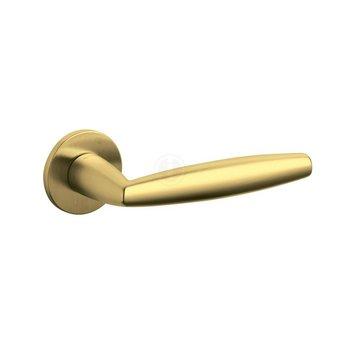 Olivari Olivari Aurelia handle on rosette - brass matt titanium PVD - by Intersteel