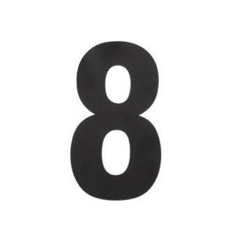 Intersteel Huisnummer 8 XL hoogte 30cm rvs/mat zwart van Intersteel