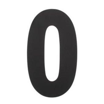 Intersteel Huisnummer 0 XXL hoogte 50cm rvs/mat zwart van Intersteel