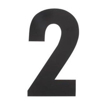 Intersteel Huisnummer 2 XXL hoogte 50cm rvs/mat zwart van Intersteel