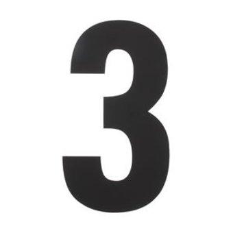 Intersteel Huisnummer 3 XXL hoogte 50cm rvs/mat zwart van Intersteel