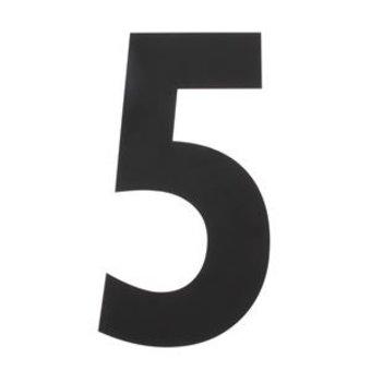 Intersteel Huisnummer 5 XXL hoogte 50cm rvs/mat zwart van Intersteel
