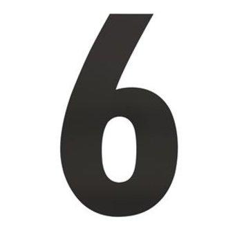 Intersteel Huisnummer 6 XXL hoogte 50cm rvs/mat zwart van Intersteel