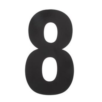 Intersteel House number 8 XXL height 50 cm stainless steel / matt black by Intersteel