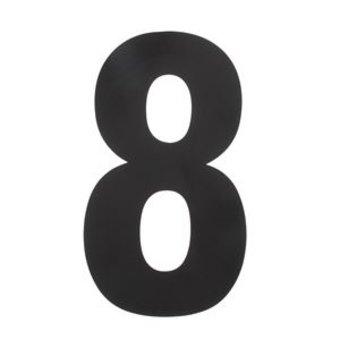 Intersteel Huisnummer 8 XXL hoogte 50cm rvs/mat zwart van Intersteel