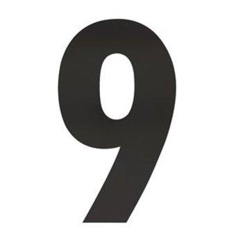 Intersteel Huisnummer 9 XXL hoogte 50cm rvs/mat zwart van Intersteel