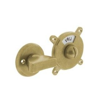 Intersteel Toilet closure - bathroom closure George - VRIJ/BEZET - tumbled brass - Intersteel