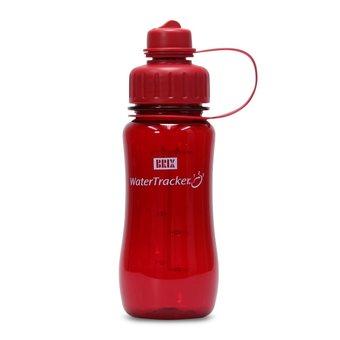 Brix WaterTracker - Trinkflasche 0,5 Liter - Rot von Brix