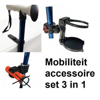 Able2 Mobiliteit accessoireset - Loophulpmiddelen set 3 in 1