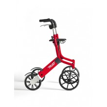 Trustcare Let's Go Out rollator - rood  + boodschappentas - TrustCare