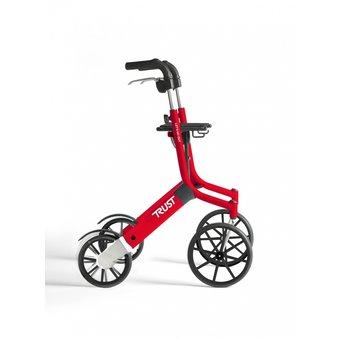 Trustcare Let's Go Out rollator - rood -  met boodschappentas - TrustCare