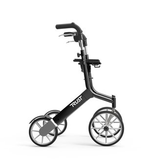 Trustcare Let's Go Out walker - black - with shopping bag - TrustCare