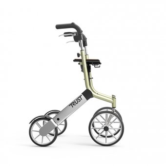 Trustcare Let's Go Out walker - beige / silver - with shopping bag - TrustCare