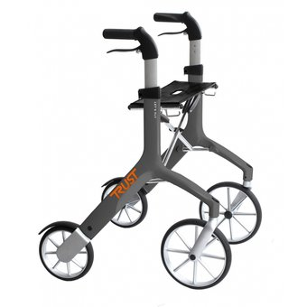 Trustcare Let's Fly walker - gray - with shopping bag - TrustCare