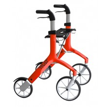 Trustcare Let's Fly rollator - rood + boodschappentas - TrustCare