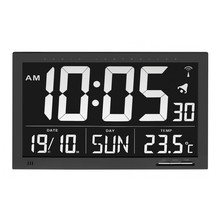 Able2 Radio Controlled Clock with temperature XL