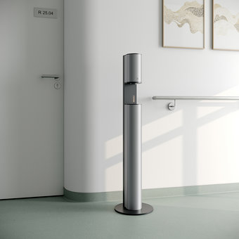 Keuco Disinfection column - on batteries - in aluminum silver anodised / anthracite - Keuco