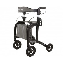 Able2 Neptune rollator - matte black - with rollator bag and back strap - Able2