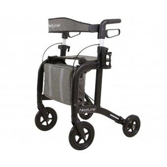 Able2 Neptun-Rollator - mattschwarz - mit Rollator-Tasche und Rückengurt - Able2