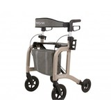 Able2 Neptune rollator - champagne - met rollatortas en rugband  - Able2
