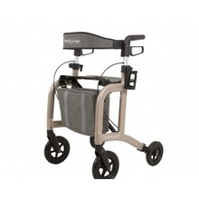 Able2 Neptune walker - champagne - with rollator bag and back strap - Able2