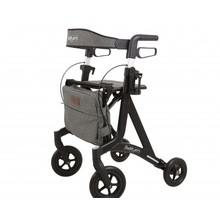 Able2 Saturn rollator - matte black - with rollator bag and back strap - Able2