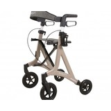 Able2 Saturn rollator - champagne - with rollator bag and back strap - Able2