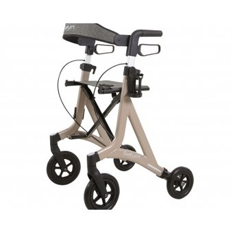 Able2 Saturn rollator - champagne - met rollatortas en rugband - Able2