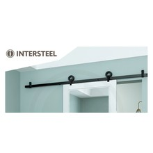 Intersteel Schiebetürsystem Modern Top Matt Black von Intersteel