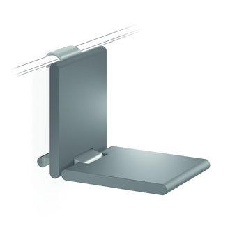 NORMBAU Klappbarer Duschsitz 380mm - für Cavere Normbau Duschgriff