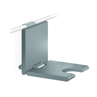 NORMBAU Folding shower seat with hygienic opening 450mm - for Cavere Normbau shower handle
