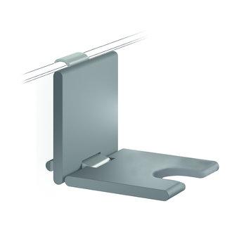 NORMBAU Klappbarer Duschsitz mit hygienischer Öffnung 450mm - für Duschgriff Cavere Normbau