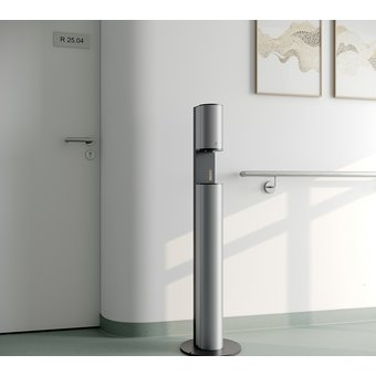 Keuco Disinfection column - on electricity - in aluminum silver-anodised / anthracite - Keuco