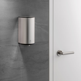 Keuco Disinfection wall dispenser - on batteries - stainless steel finish - for liquid disinfectant - Keuco
