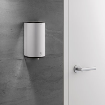 Keuco Disinfection wall dispenser - on batteries - in aluminum silver anodised / anthracite - Keuco -