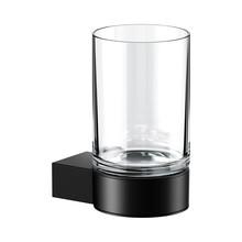 Keuco Glass holder with crystal glass Plan Black Keuco