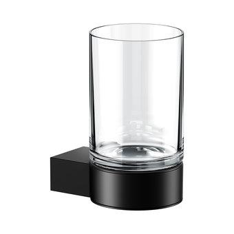 Keuco Glass holder with crystal glass series Plan Black Keuco