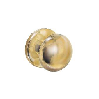 Intersteel Front door knob Mushroom brass lacquered - Intersteel