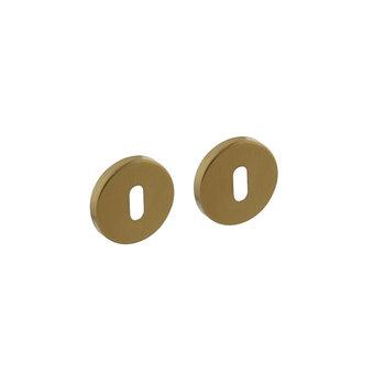 Intersteel Rosette mit Schlüsselloch rund Messing Titan matt PVD Intersteel