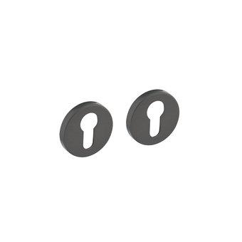 Intersteel Rosette mit Profilzylinderloch rund in grau Intersteel