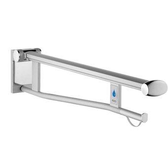 Keuco Opklapbare steun wc met wc-spoelmechanisme 850mm RECHTS Keuco Plan Care (verchroomd)