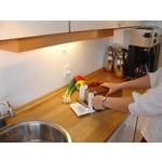 Küchenhelfer und Messer
