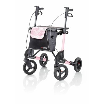 3e706b3a2eebf5 Topro Topro Troja 2G Rollator Standard M Pink Rose with free back support!